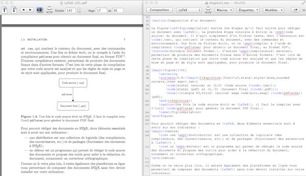 6570c6980e3 TeXShop est un éditeur LaTeX pour Mac OS X qui permet de visualiser en  parallèle le code source et la dernière version compilée du document final.
