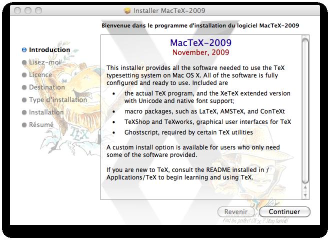télécharger latex sous mac